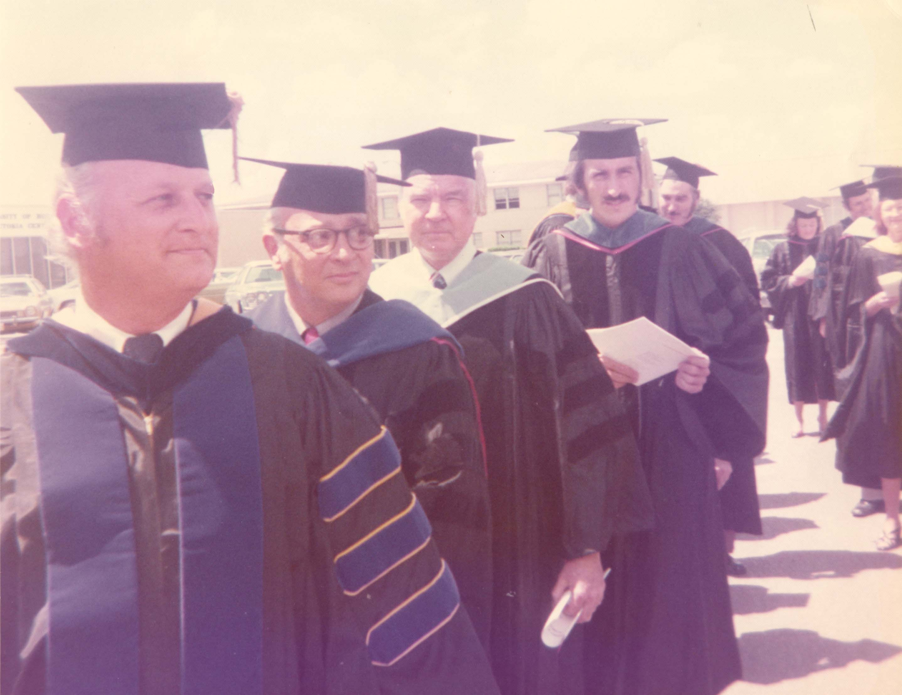 The very first University of Houston Victoria commencement in 1975